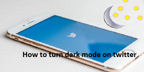 How to turn dark mode on twitter