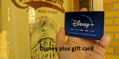 Disney plus gift card