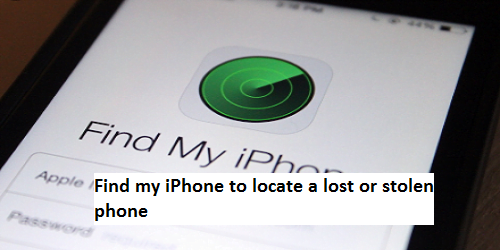 find my iPhone to locate a lost or stolen phone