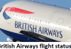 British Airways flight status