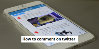How to comment on twitter