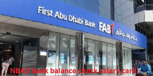 NBAD bank balance check salary card