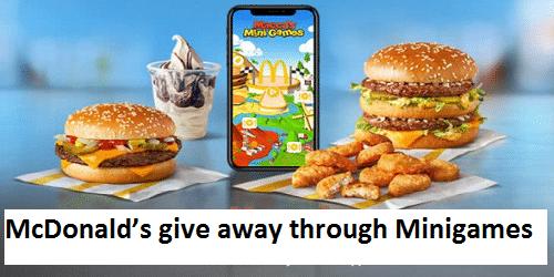 McDonald's give away through Minigames