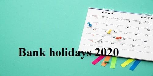 Bank holidays 2020