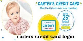 carters credit card login