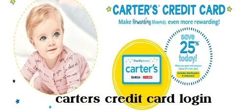 carters credit card login