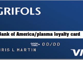 Bank of America/plasma loyalty card
