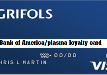Bank of America/plasma loyalty card