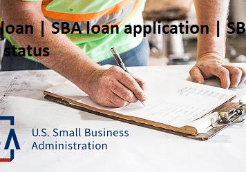 SBA loan | SBA loan application | SBA loan status