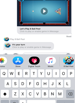 iMessage games for money